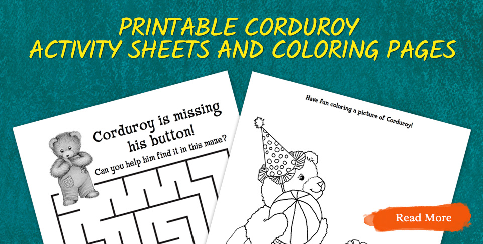 Printable Corduroy Activity pages